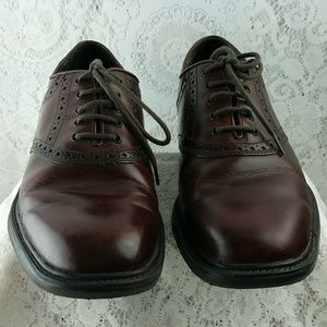 Nunn-Bush-Macallister-Burgundy-Saddle Lace Oxford